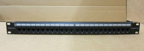 "HellermannTyton Megaband 19"" UTP Patch Panel Cat 5E 1/2408-NMB-HD/BK"